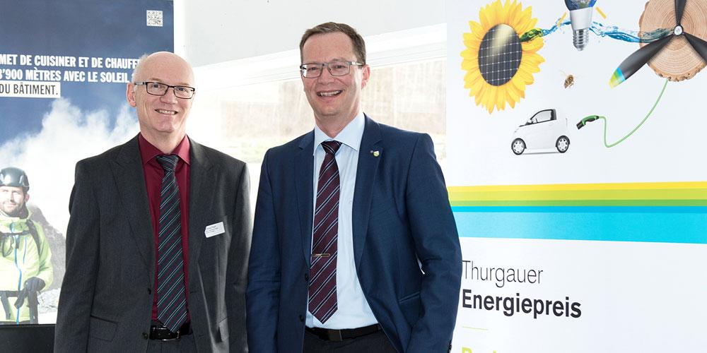 Andrea Paoli, Leiter der Abteilung Energie, und Regierungsrat Walter Schönholzer, Chef des Departements für Inneres und Volkswirtschaft